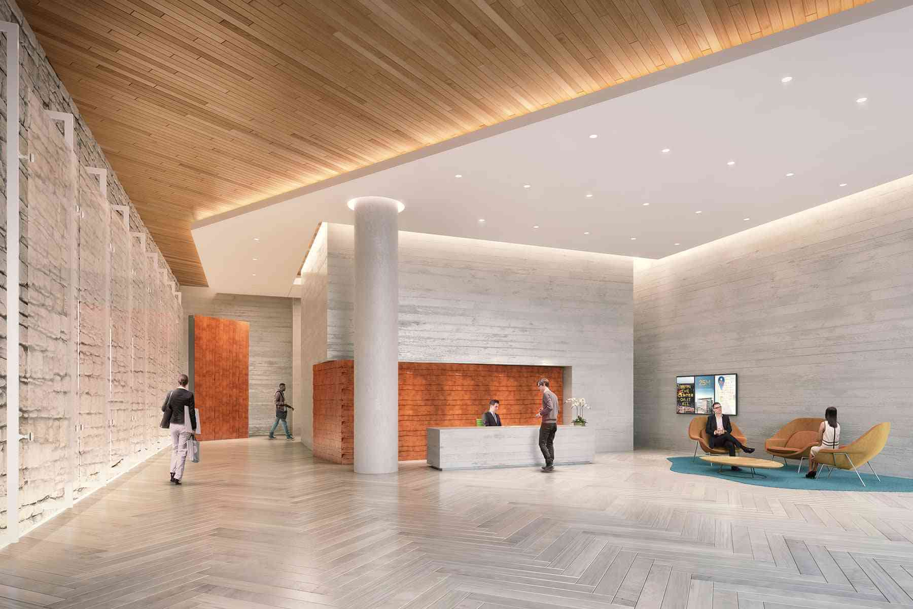 Lobby Rendering Tech Office Spaces Tech Office Spaces